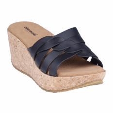 Harga Obermain Sandal Wedges Wanita Jessica Hitam Origin