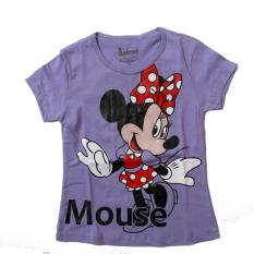 OBRAL ! Harga Promo Kaos Atasan Anak Karakter Minnie Mouse - Purple