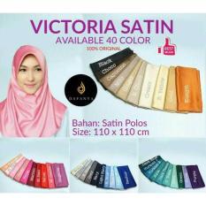 OBRAL MURAH ! Harga Promo Jilbab / Hijab Segiempat Victoria Satin Polos Dafanya