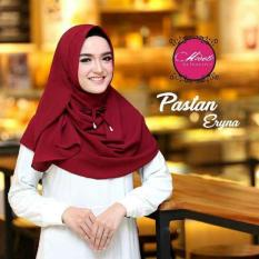 OBRAL MURAH ! Harga Promo Pashmina Instant / Pastan Eryna / Pastan Eryna - Maroon