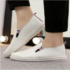 Berapa Harga Ocean Buatan Pu Sepatu Slip Ons Loafers Sepatu Lembut Sole Sepatu Tunggal Trend Ventilasi Sepatu Rendah Putih Intl Oem Di Tiongkok