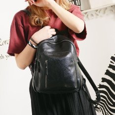 Ocean Fashion Baru Woman Backpack Zipper Pu Motor Backpack Casual Kolokasi Tide Pack Hitam Intl Tiongkok Diskon