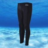 Jual Ocean Men Olahraga Celana Renang Waterproof Dry Drying Shark Skin Diving Surfing Setelan Mandi Hitam Satu Set