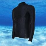Beli Ocean Men Olahraga Pakaian Selam Tahan Air Cepat Kering Lengan Panjang Menyelam Mandi Suit Snorkeling Surfing Rashguard Hitam