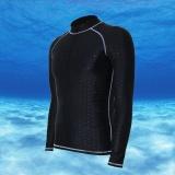 Beli Ocean Men Olahraga Pakaian Selam Tahan Air Cepat Kering Lengan Panjang Menyelam Mandi Suit Snorkeling Surfing Rashguard Abu Abu Jalur Murah Di Tiongkok