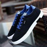 Spesifikasi Ocean Men S Fashion Sneakers Casual Sepatu Mahasiswa Sepatu Trend Ventilasi Canvas Shoe Hitam Intl Dan Harganya