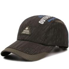 Topi baseball pria wanita model hip hop edisi Han yang memiliki ventilasi udara untuk dipakai di pantai (Hijau Tentara) - intl
