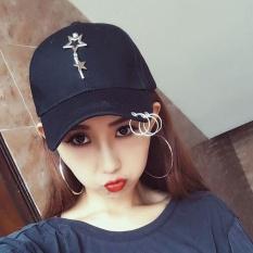 Wanita Model Wanita Topi Hip Hop Edisi Han Ventilasi Bisbol untuk Dipakai Di Pantai (Hitam) -Intl