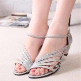 Spesifikasi Ocean New Ladies Fashion Wedge Sandal Han Edisi Rendah Wanita Bertumit Sepatu Perak Intl Merk Oem