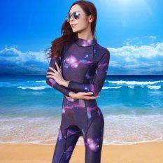 Jual Ocean New Wanita Lengan Panjang Conjoined Diving Suit Surfing Pakaian 3Mm Untuk Tetap Hangat Starry Sky Intl Branded Original
