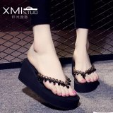 Jual Ocean New Lady S Fashion Sandal Wedge Dan Sandal Hitam Intl Antik