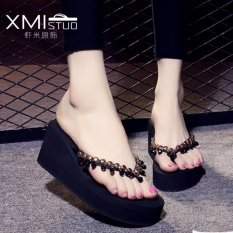 Spek Ocean New Lady S Fashion Sandal Wedge Dan Sandal Hitam Intl Oem