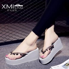 Beli Ocean New Lady S Fashion Sandal Wedge Dan Beaded Sandal Abu Abu Intl Oem Online