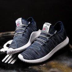 Review Terbaik Ocean New Man Fashion Sneakers Han Edisi Ventilasi Waktu Luang Motion Tahan Aus Run Kelapa Sepatu Biru Intl