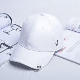 Promo Pria Wanita Model Topi Matahari Sederhana Sports Street Baseball Hat Putih Tiongkok