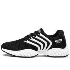 Diskon Besarpria Running Shoes Fashion Sneakers Ventilasi Motion Han Edisi Pakaian Jaring Sepatu Kasual Hitam Intl