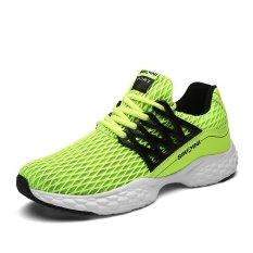 Jual Pria Sepatu Sneakers Ventilasi Motion Han Edisi Kain Bersih Sepatu Kasual Neon Hijau Intl Satu Set