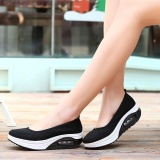 Cara Beli Ocean New Wanita Berjalan Sepatu Olahraga Luar Ruangan Breathable Net Permukaan Kasual Sepatu Hitam