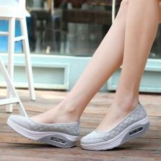 Ulasan Mengenai Ocean New Wanita Berjalan Sepatu Olahraga Luar Ruangan Breathable Net Permukaan Her Kasual Abu Abu