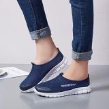 Beli Ocean New Wanita Berjalan Sepatu Olahraga Outdoors Casual Bernapas Menjalankan Sepatu Kain Sepatu Biru Tua Yang Bagus