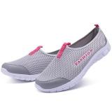 Beli Ocean New Wanita Berjalan Sepatu Olahraga Outdoors Casual Bernapas Menjalankan Sepatu Kain Sepatu Abu Abu Muda Cicilan