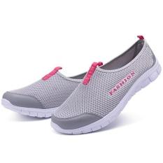Ocean New Wanita Berjalan Sepatu Olahraga Outdoors Casual Bernapas Menjalankan Sepatu Kain Sepatu (abu-Abu Muda) By Ocean Shopping Mall.