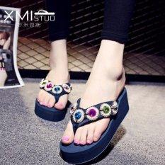 Beli Ocean New Wanita S Platform Sandal Dengan Flip Flops Biru Intl Murah Di Tiongkok