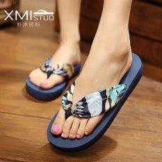 Pusat Jual Beli Ocean New Perempuan Sandal Flip Flops Bohemian Beach Sepatu Daun Biru Intl Tiongkok