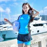 Harga Ocean Women 2 Pieces Konservatif Swimsuit Hot Spring Tankinis Swimwear Lengan Pendek Celana Pendek Biru Intl Oem Asli