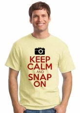 Oceanseven Keep Calm And Snap On - Beige