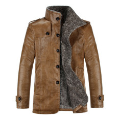Spesifikasi Oem Kasual Pria Pu Kulit Jaket Bulu Jaket Jas Hujan Internasional Baru