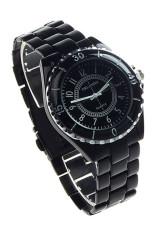 Harga Oem Womens Imitasi Keramik Quartz Analog Olahraga Wrist Watch Black Jam Tangan