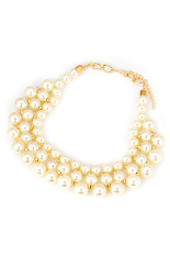 Ofashion AS White Pearls Short Style Allow Fashion Necklace - C10035
