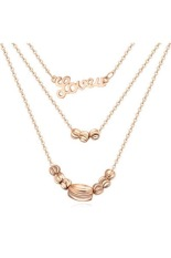 Ofashion Stylish Letter Love You Decorated Cuprum Necklaces - A38004 - Gold