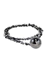 Ofashion Tory Metal Ball Shape Necklaces - A38045 - Hitam