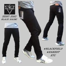 OFC- Celana jeans denim skinny / slimfit / pensil pria – HITAM NAOMI