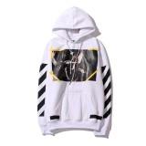 Harga Off Putih Pria Wanita Sweatshirts Hoodie Hooded Sweter Autumn Mantel Jaket Musim Dingin Graffiti Stripes Agama Angel Lindung Nilai Pakaian Intl Original