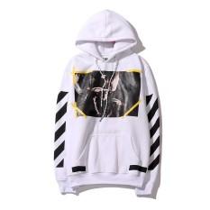 Tips Beli Off Putih Pria Wanita Sweatshirts Hoodie Hooded Sweter Autumn Mantel Jaket Musim Dingin Graffiti Stripes Agama Angel Lindung Nilai Pakaian Intl