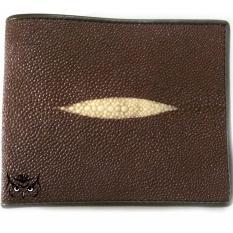 Ofi Wallet Leather - Dompet Kulit Ikan Pari Diamond Coklat