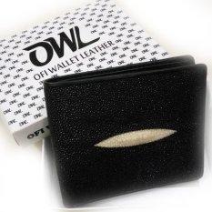 Ofi Wallet Leather Dompet Kulit Ikan Pari Diamond - Hitam