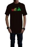 Model Ogah Drop Evolution Vespa Rasta T Shirt Pria Hitam Terbaru