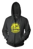 Spek Ogah Drop Zipper Hoodie Golden State Warriors Hitam