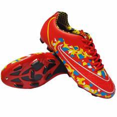 Ogardo Pele Soccer Sepatu Sepak Bola Merah Kuning Terbaru