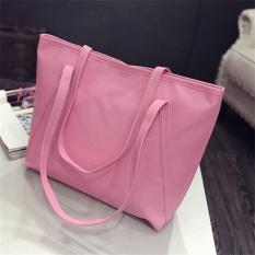 Review Oh Fashion Wanita Shoulder Bag Casual Kulit Pu Kapasitas Besar Tas Tangan Wanita Pink Intl Di Tiongkok