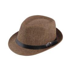 Spesifikasi Oh Topi Jerami Topi Yang Bergaya Musim Panas Trilby Topi Fedora Topi Panama Topi Topi Jazz Coklat Not Specified Terbaru