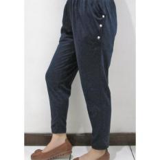 Ohinstore /            Celana Panjang Polos Kaos Slim Fit Wanita -AYU001  Celana Kulot / Celana