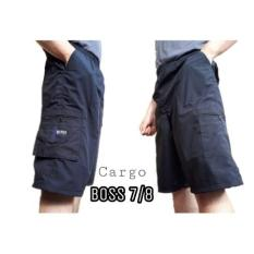 Ohinstore /            Celana Pendek Cargo 7/8 Katun Boss  Celana Kulot / Celana Jeans / Celana Pria