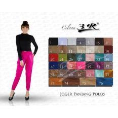 Ohinstore/ Jogger Pants 3R- Celana Joger Panjang Wanita Bahan Katun- Big Hamil Ok Celana