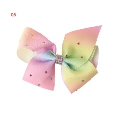 Jual Okdeals 12Cm Big Bowknot Hairpins With Diamond G*rl Barrette Large Colorful Bow Hair Clip Jojo Hair Accessories 5 Intl Online Tiongkok