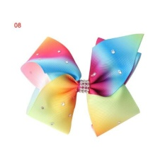 Toko Okdeals 12 Cm Big Bowknot Hairpins Dengan Diamond Gadis Barrette Besar Colorful Bow Hair Clip Jojo Aksesoris Rambut 8 Intl Murah Tiongkok